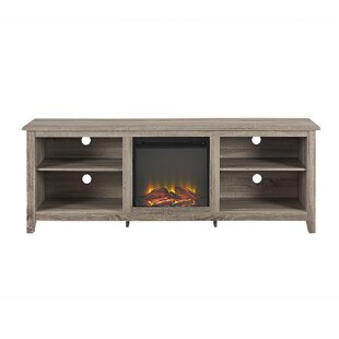 Sunbury TV Stand for TVs up to 70 with Fireplace By Beachcrest Home