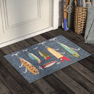 Buckeys Playing Hooky Hand-Tufted Gray Indoor/Outdoor Area Rug