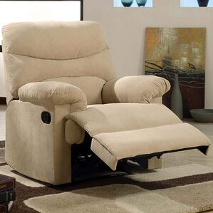 plush chaise manual glider recliner