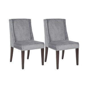 Philllip Solid Birch Upholstered Dining Chair (Set Of 2) By Rosalind Wheeler