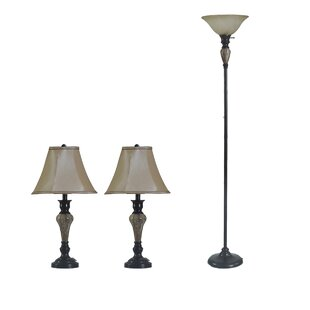 Vetter 3 Piece Table and Floor Lamp Set