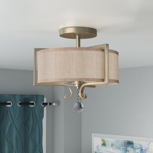 Beasley 2-Light Semi Flush Mount by Willa Arlo Interiors
