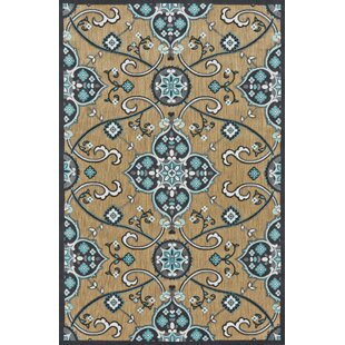 Southview Blue/Tan Indoor/Outdoor Area Rug by Andover Mills