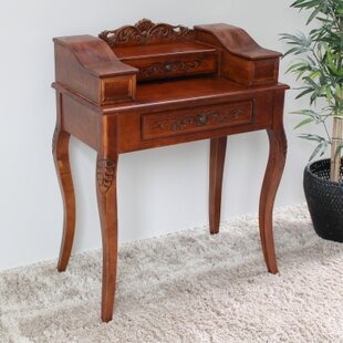 International Caravan Windsor Hand Carved Wood Telephone Table
