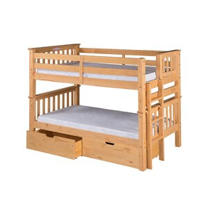 Santa Fe Mission Twin over Twin Bunk Bed with Storage byCamaflexi