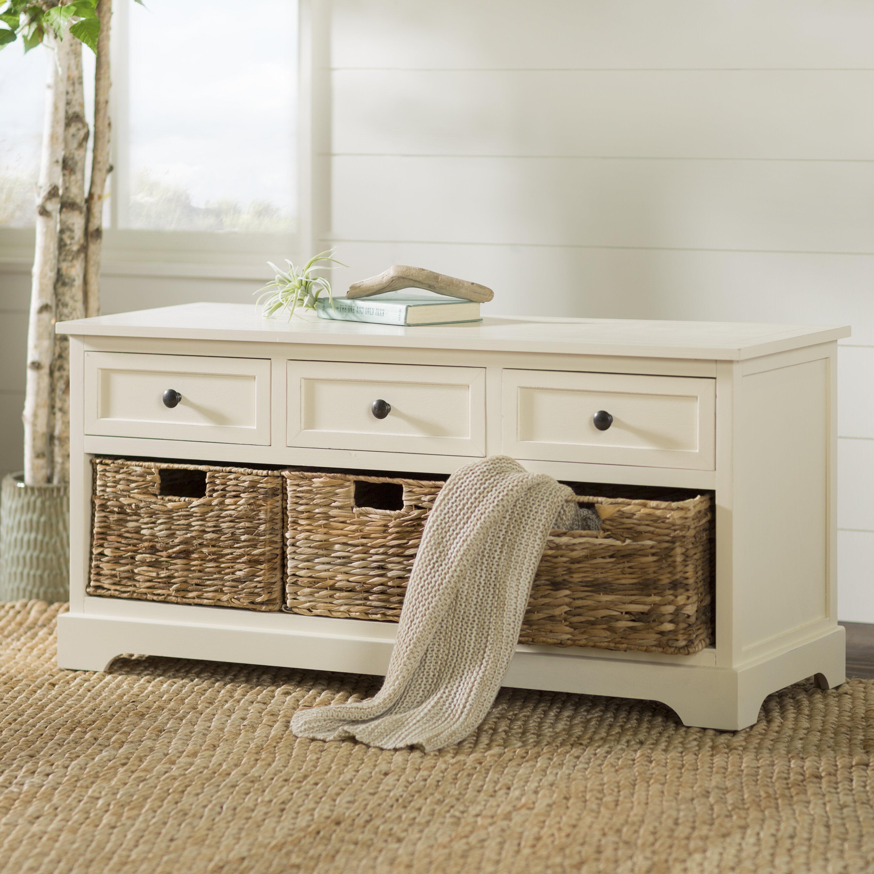 Beachcrest Home Ardina Drawers Storage Bench Reviews Wayfair
