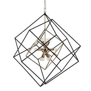 Brayden Studio Ducan 12-Light Geometric Chandelier