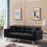 Coster 74.8'' Velvet Square Arm Sofa