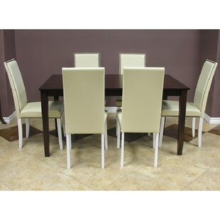Blazing 7 Piece Solid Wood Dining Set Warehouse of Tiffany