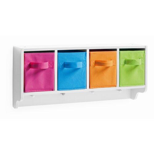 Wandgarderobe Color | Flur & Diele > Garderoben > Garderobenhaken | Kunterbunt / weiß | Mdf - Holzwerkstoff | Zeller