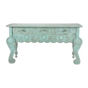 Liddel Elegant Patina Wood Console Table