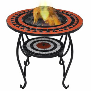 Laraine Steel Charcoal And Wood Burning Fire Pit By World Menagerie