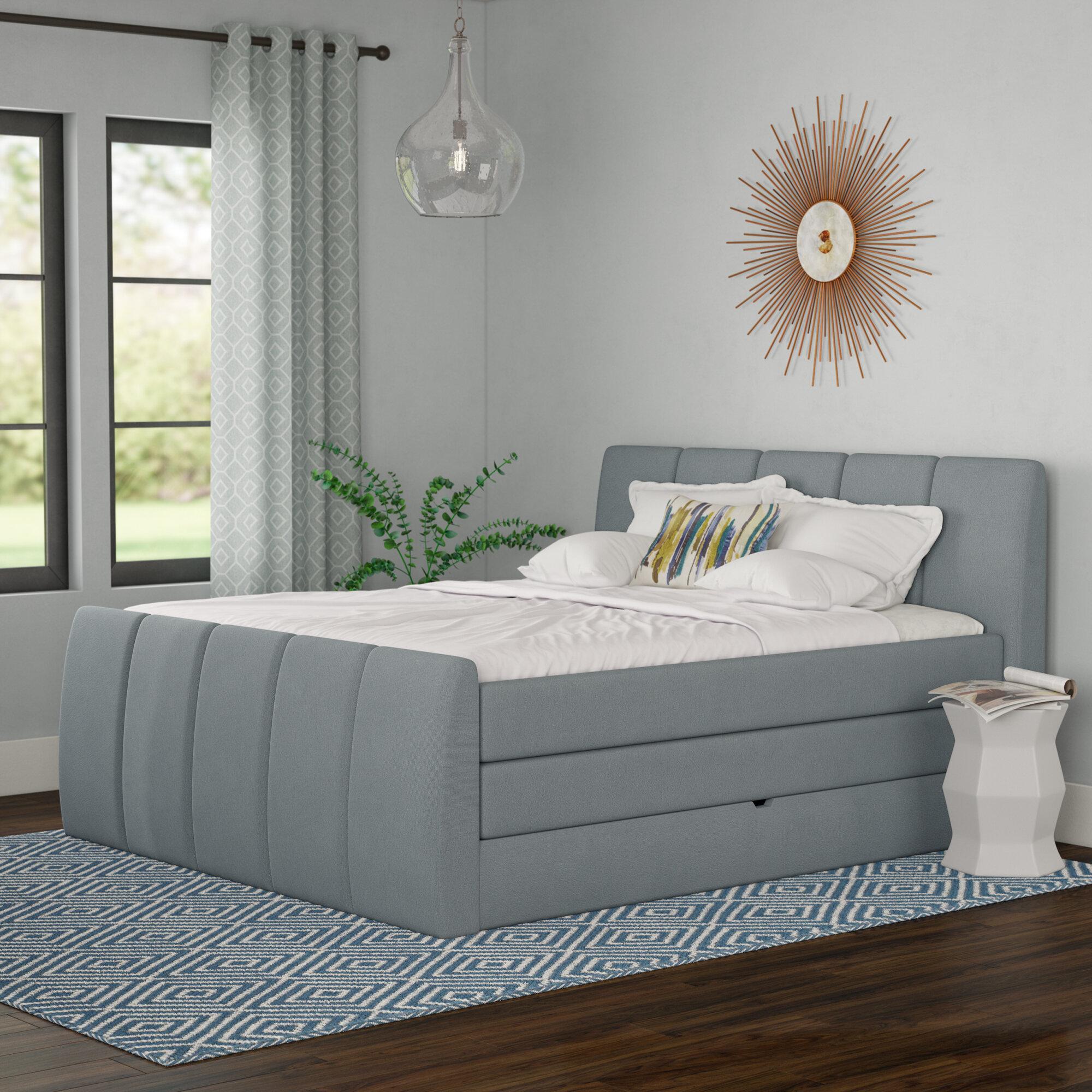 Brayden Studio Schwab Upholstered Storage Standard Bed With Mattress Wayfair