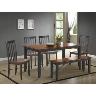Hardcastle 6 Piece Dining Set by Three Posts