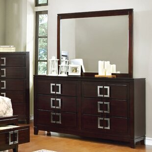 Suruga Elsin 6 Drawer Dresser with Mirror
