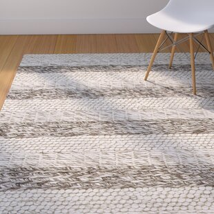 Check Prices Creswell Hand-Tufted Wool Gray/White Landscape Area Rug ByMercury Row