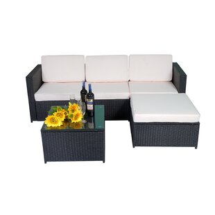 Peterstown 5 Piece Sectional Seating Group with Cushions