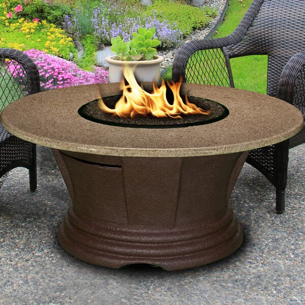 California Outdoor Concepts San Simeon Stainless Steel Propane Gas Fire Pit  Table U0026 Reviews | Wayfair