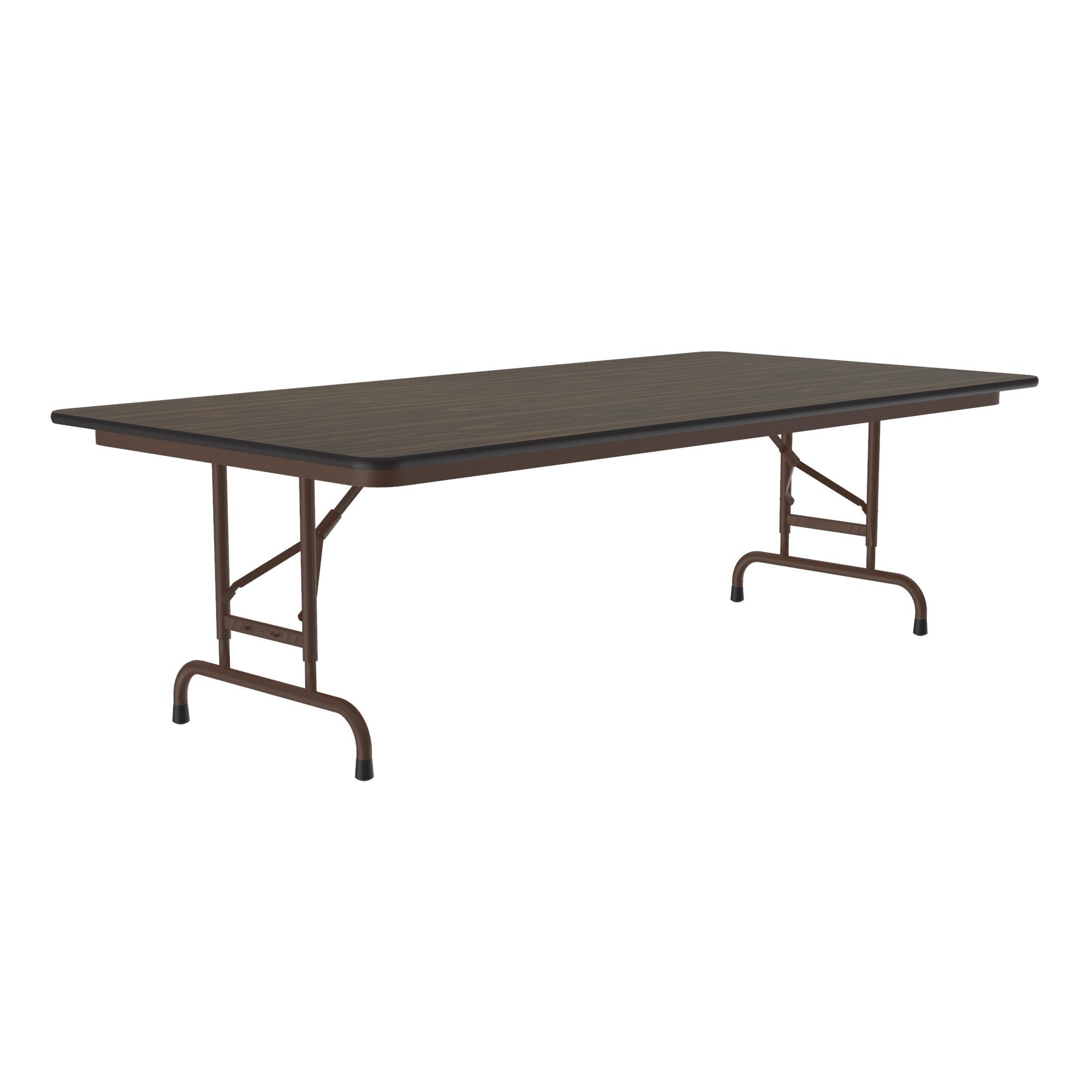 Correll Inc 96 Rectangular Adjustable Folding Table Wayfair