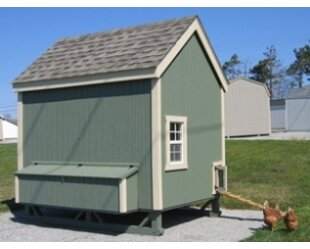 Dorothea Colonial Gable Chicken House With Ramp And Nesting Box By Tucker Murphy Pet