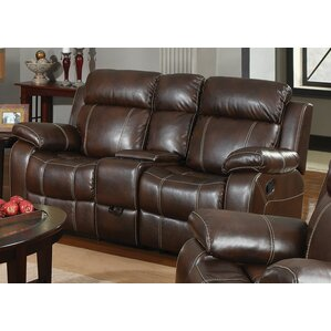 Chestnut Double Gliding Reclining Sofa..