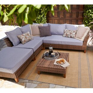 Wrington 5 Piece Sectional Seating Group with Cushions by George Oliver