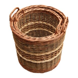 Gatley 3 Piece Willow Log Carrier Set By August Grove
