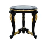 Bellagio Collection Glass Top 3 Legs End Table by European Furniture