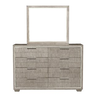 Lorenz 8 Drawer Dresser with Mirror