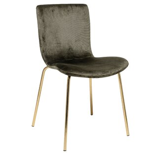 Dehoyos Upholstered Hunter Velvet Side Chair (Set of 2) by Mercer41