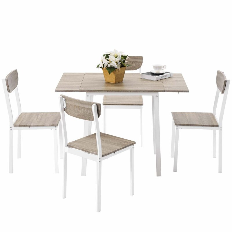Corrigan Studio Lineberry 5 - Piece Drop Leaf Dining Set