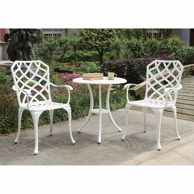 Highline 3 Piece Bistro Set by Canora Grey Coupon
