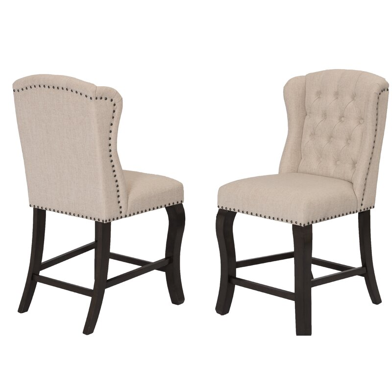 White Cane Outdoor Furniture, Darby Home Co Dresser Counter Height Upholstered Dining Chair Wayfair