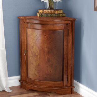 Darby Home Co Black Mesa Corner Accent Cabinet