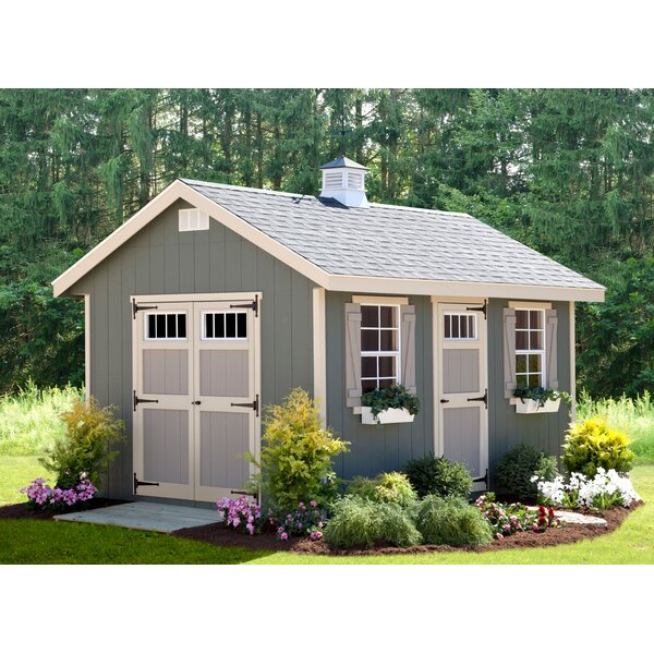 Alpine Structures Riverside 10 Ft W X 14 D Wooden Storage Shed Reviews Wayfair