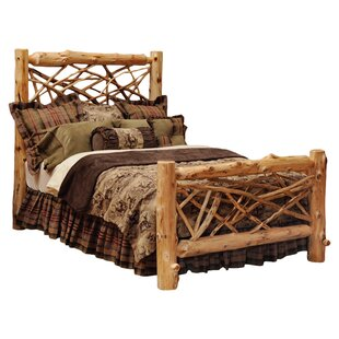Traditional Cedar Log Panel Bed