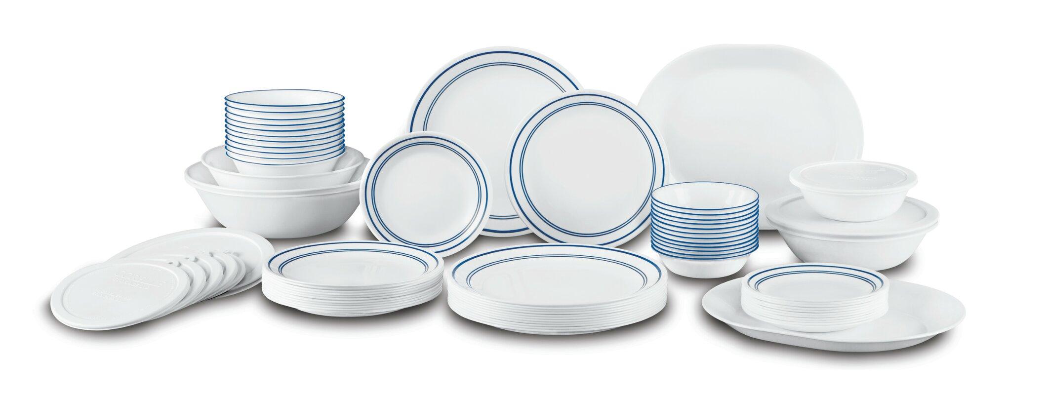 Classic Cafe Living Ware 74 Piece Dinnerware Set Service for 12  sc 1 st  Wayfair & Corelle Classic Cafe Living Ware 74 Piece Dinnerware Set Service ...
