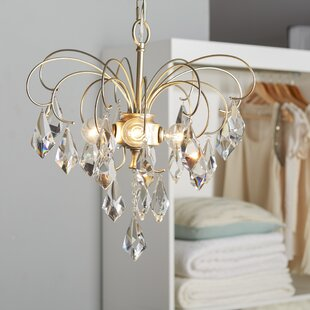 House of Hampton Oriana 4-Light Crystal Chandelier
