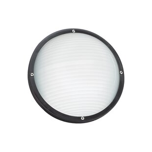 Laxford 1-Light Outdoor Bulkhead Light By Breakwater Bay Outdoor Lighting