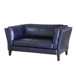 Latitude Run Betton Leather Loveseat