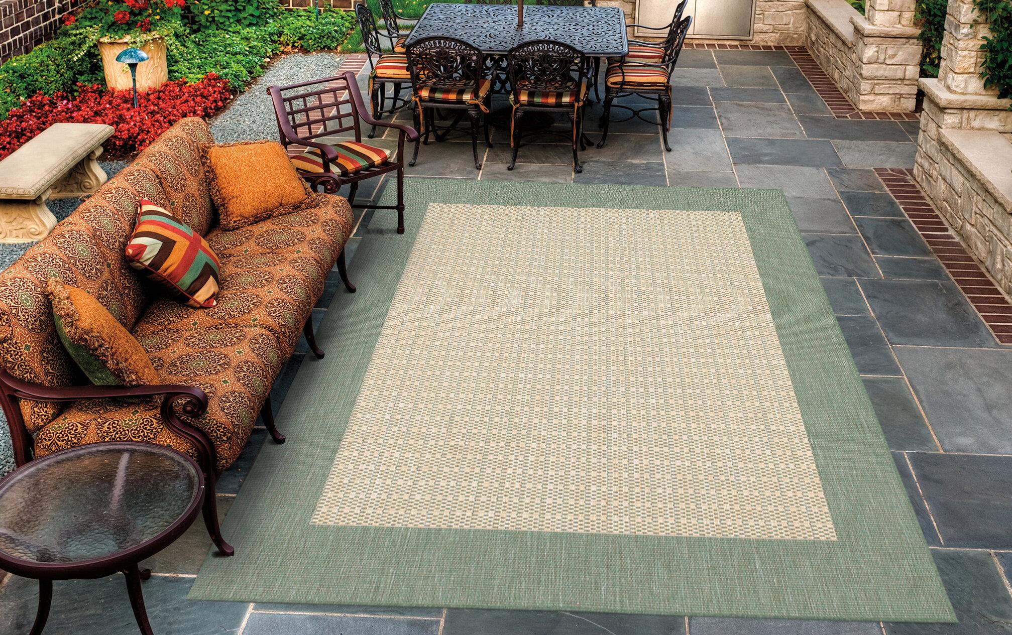 Celia Moss Green Tan Indoor Outdoor Area Rug Reviews Joss Main