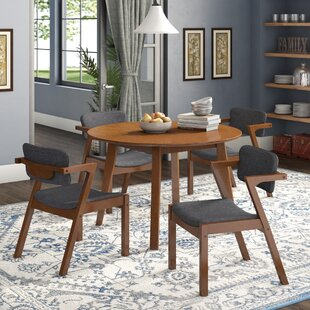 Lessman 5 Piece Solid Wood Dining Set Union Rustic