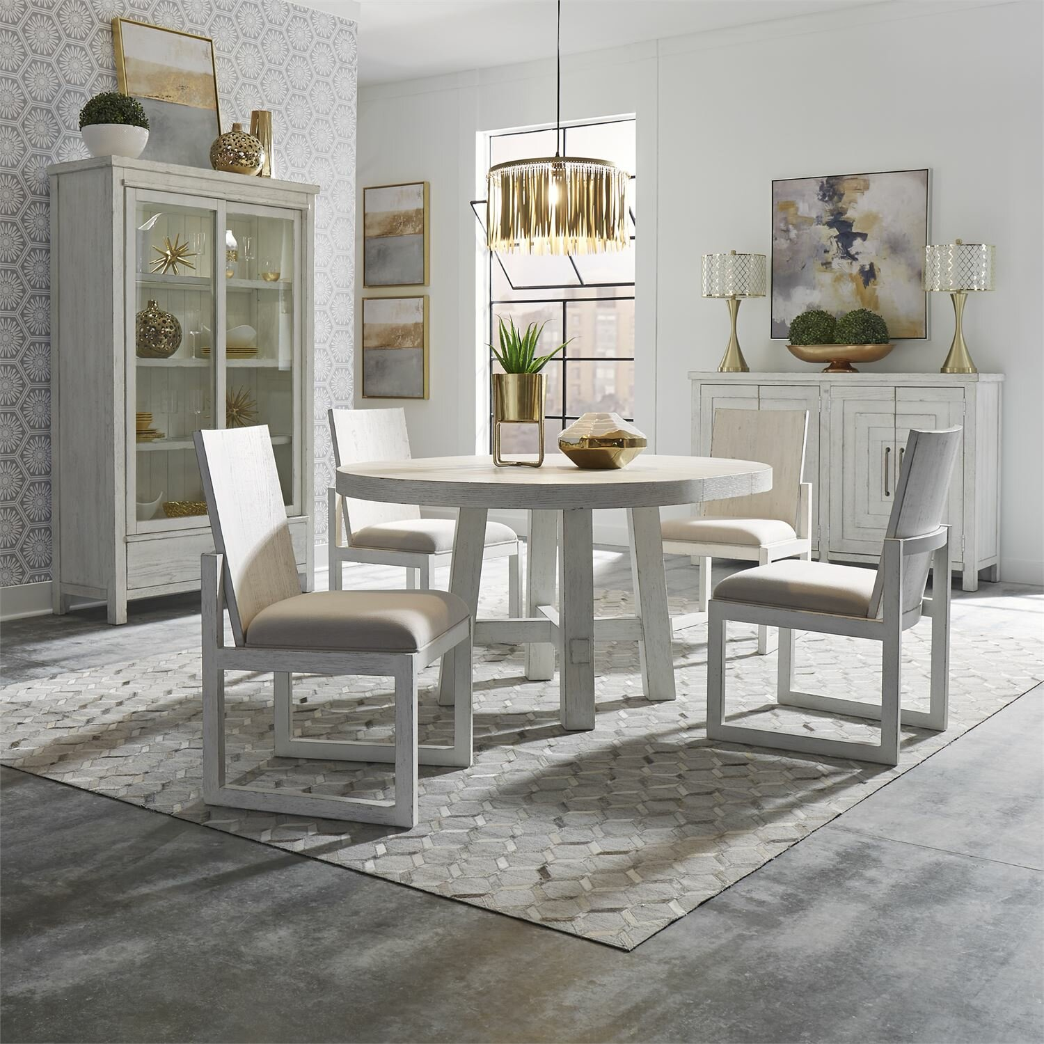 Theres Round 5 Piece Extendable Dining Set Birch Lane