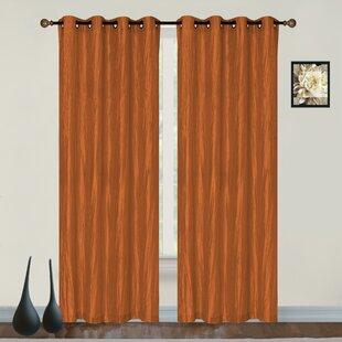 Orange Bedroom Curtains | Wayfair