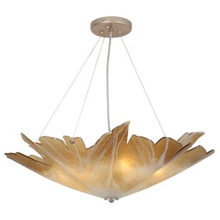 Orren Ellis Berkeley Leaf 5-Light Bowl Pendant