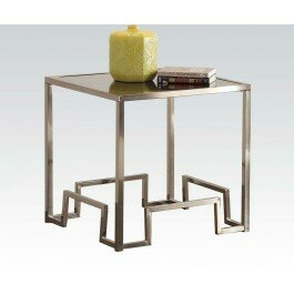 Everly Quinn Cullompt Fabric End Table