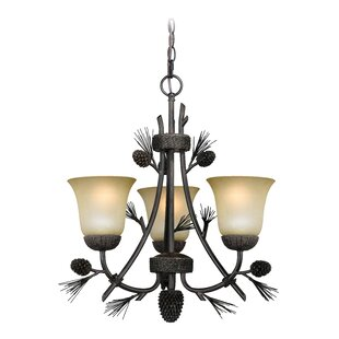 Stricklin 3-Light Shaded Chandelier by Millwood Pines