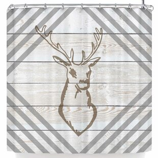Best Review Nl Designs Wood Palette Deer Shower Curtain By East Urban Home