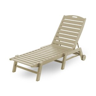 Nautical Reclining Chaise Lounge by POLYWOOD?