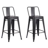 Marlie Short, Counter, Bar, Stool & Extra Tall Stool (Set of 2) by 17 Stories